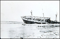 BNPS.co.uk (01202 558833)<br /> Pic: BNPS<br /> <br /> A shipwreck on the beach in La Panne, Belgium.<br /> <br /> Haunting photos which capture the trail of devastation left in the wake of the Dunkirk evacuation have been unearthed after 77 years.<br /> <br /> The poignant pictures were taken soon after 330,000 Allied troops had been rescued from the beaches by an armada of little ships having been defeated by the Germans.<br /> <br /> The epic operation is about to be the subject of the new Hollywood blockbuster movie 'Dunkirk' will stars Tom Hardy and Harry Styles and is die for release on July 21.<br /> <br /> The black and white snaps show German soldiers surveying the wreckage which included destroyed ships and large military trucks lying in the surf.<br /> <br /> They are being sold by Duke's Auctioneers.