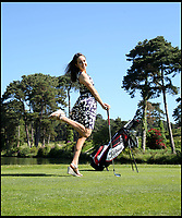 BNPS.co.uk (01202 558833)<br /> Pic: CorinMesser/BNPS<br /> <br /> British Open golf winner Georgia Hall at her local Parkstone Golf Club in Poole, Dorset, in 2017. <br /> <br /> She's been an honorary member since 2012.