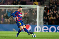 5th November 2019; Camp Nou, Barcelona, Catalonia, Spain; UEFA Champions League Football, Barcelona versus Slavia Prague; Clement Lenglet plays the ball outside during round 4 of UEFA Champions League match against Slavia Praga - Editorial Use