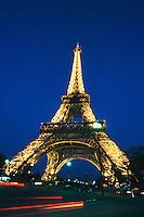 Eiffel Tower at dawn, Paris, France, Europe