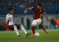 AS Roma's Mohamed Salah  during the Champions League Group E soccer match between As Roma and  Bayer Leverkusen at the Olympic Stadium in Rome, November 04 2015