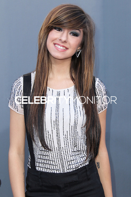 "UNIVERSAL CITY, CA, USA - APRIL 15: Christina Grimmie at NBC's ""The Voice"" Season 6 Top 12 Red Carpet Event held at Universal CityWalk on April 15, 2014 in Universal City, California, United States. (Photo by Xavier Collin/Celebrity Monitor)"