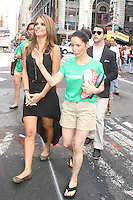 NEW YORK, NY - JULY 31: Maria Menounos celebrates Crocs Tenth Anniversary by ringing the NASDAQ bell at 4 Times Square on July 31, 2012 in New York City. Credit: RW/MediaPunch Inc. /NortePhoto.com<br />