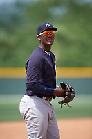 New York Yankees Miguel Andujar (41) during a minor league Spring Training game against the Pittsburgh Pirates on April 1, 2016 at Pirate City in Bradenton, Florida.  (Mike Janes/Four Seam Images)