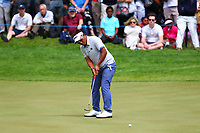 Thongchai Jaidee putts on the 17th green during the BMW PGA Golf Championship at Wentworth Golf Course, Wentworth Drive, Virginia Water, England on 27 May 2017. Photo by Steve McCarthy/PRiME Media Images.