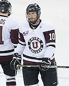Luke Cain (Union - 10) - The University of Minnesota-Duluth Bulldogs defeated the Union College Dutchmen 2-0 in their NCAA East Regional Semi-Final on Friday, March 25, 2011, at Webster Bank Arena at Harbor Yard in Bridgeport, Connecticut.