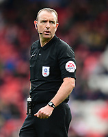 Referee Carl Boyeson<br /> <br /> Photographer Chris Vaughan/CameraSport<br /> <br /> The EFL Sky Bet League Two - Doncaster Rovers v Blackpool - Keepmoat Stadium - Doncaster<br /> <br /> World Copyright &copy; 2017 CameraSport. All rights reserved. 43 Linden Ave. Countesthorpe. Leicester. England. LE8 5PG - Tel: +44 (0) 116 277 4147 - admin@camerasport.com - www.camerasport.com