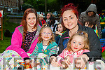 L-r Miriam Sheehy, Leah Crowley, Carrie Hennessy and Rhianne O'Sullivan.  enjoying the Open Air Film screening of  Shaun the Sheep  in Pearse Park part of Culture Night on Friday