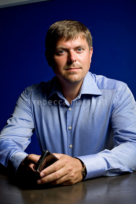 Ilja Laurs, founder and CEO of GetJar, poses for the photographer, Nice, France, 30 August 2010