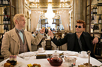 Michael Sheen and David Tennant<br /> Good Omens (2019 - )<br /> Episode 6<br /> *Filmstill - Editorial Use Only*<br /> CAP/RFS<br /> Image supplied by Capital Pictures