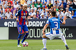 FC Barcelona's Neymar Santos Jr Club Deportivo Leganes's Unai Bustinza during the match of La Liga between Club Deportivo Leganes and Futbol Club Barcelona at Butarque Estadium in Leganes. September 17, 2016. (ALTERPHOTOS/Rodrigo Jimenez)