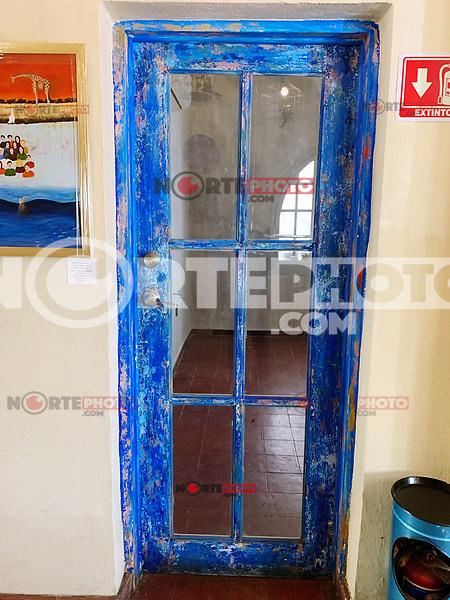 Puerta Azul. Blue Door. home , indoor