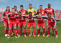 05 May 2012: The Toronto FC  starting eleven during an MLS game between DC United and Toronto FC at BMO Field in Toronto..D.C. United won 2-0.