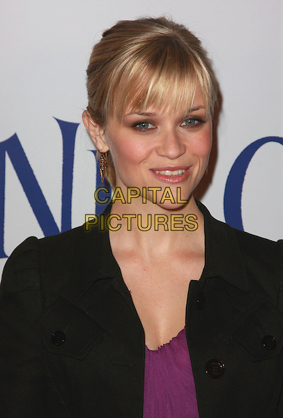 "REESE WITHERSPOON.""Penelope"" Los Angeles Premiere held at the Directors Guild of America Theater. Photo Credit: Charles Harris/AdMedia.February 20th, 2008.headshot portrait gold earrings fringe bangs .CAP/ADM/CH.©Charles Harris/AdMedia/Capital Pictures"
