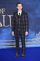 "Joshua Shea<br /> arriving for the ""Fantastic Beasts: The Crimes of Grindelwald"" premiere, Leicester Square, London<br /> <br /> ©Ash Knotek  D3459  13/11/2018"