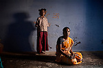CHENNAI, INDIA, JULY 2012: .Jeya, with her daugther Naruini, she killed her 2 daughter under the pressure of her family. ,july 2012.One day she couldn't handled the crying anymore and she just put a wet cloth on the child's mouth..© Giulio Di Sturco