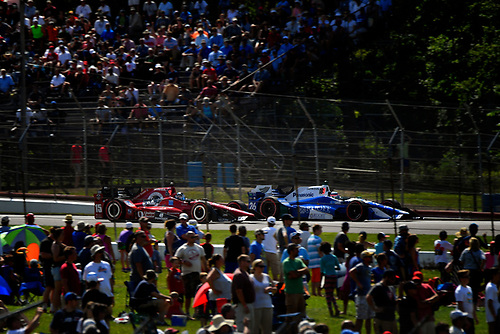 Verizon IndyCar Series<br /> Honda Indy 200 at Mid-Ohio<br /> Mid-Ohio Sports Car Course, Lexington, OH USA<br /> Sunday 30 July 2017<br /> Graham Rahal, Rahal Letterman Lanigan Racing Honda, Takuma Sato, Andretti Autosport Honda<br /> World Copyright: Scott R LePage<br /> LAT Images<br /> ref: Digital Image lepage-170730-to-9727