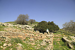 Israel, Lower Galilee, remains of the residential area in Tel Yodfat identified as the site of Biblical Yatva, Yodfat was a Jewish stronghold during the rebellion against the Romans, remains of the residential area