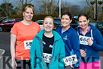 l-R Noreen Goodall, Amy O'Brien, Blennerville and Katriona&Jacinta O'Dowd from Abbeydorney taking part in the Tralee 10 miler in aid of Kerry Hospice, at the start at the Rose hotel, Tralee.