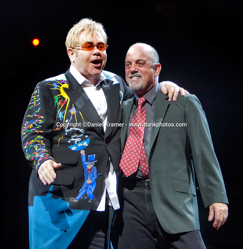 Elton John and Billy Joel reunite for their Face 2 Face tour on March 19 at the Toyota Center in Houston, Texas.