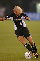 Minna Mustonen of the New York Power during a game against the San Diego Spirit. The Spirit defeated the Power 1-0 on July 20th at Mitchel Athletic Complex, Uniondale, NY.