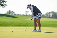Shanshan Feng (CHN) barely misses a birdie putt on 15 during Sunday's final round of the 72nd U.S. Women's Open Championship, at Trump National Golf Club, Bedminster, New Jersey. 7/16/2017.<br /> Picture: Golffile | Ken Murray<br /> <br /> <br /> All photo usage must carry mandatory copyright credit (&copy; Golffile | Ken Murray)
