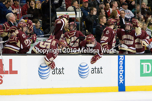 - The Boston College Eagles defeated the Boston University Terriers 4-3 on Monday, February 8, 2010, at the TD Garden in Boston, Massachusetts, to take the 2010 Beanpot.