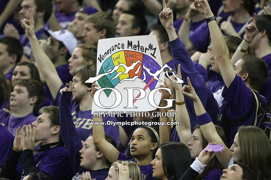 Mar 05, 2011:  Washington's fans held up a Venoy Overton sign during the game against USC.  USC defeated Washington 62-60 at Alaska Airlines Arena Seattle, Washington...