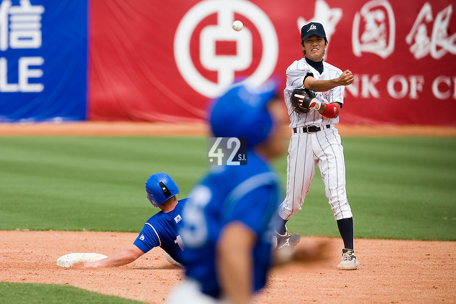 22 August 2007:  during the Japan 9-4 victory over France in the Good Luck Beijing International baseball tournament (olympic test event) at west Beijng's Wukesong Baseball Field in Beijing, China.