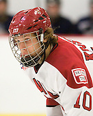 Eric Kroshus (Harvard - 10) - The visiting Quinnipiac University Bobcats defeated the Harvard University Crimson 3-1 on Wednesday, December 8, 2010, at Bright Hockey Center in Cambridge, Massachusetts.