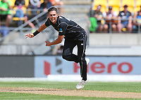Blackcaps Trent Boult during the third ODI cricket match between the Blackcaps & England at Westpac stadium, Wellington. 3rd March 2018. © Copyright Photo: Grant Down / www.photosport.nz