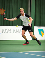 Januari 24, 2015, Rotterdam, ABNAMRO, Supermatch, Diwon de Haan<br /> Photo: Tennisimages/Henk Koster