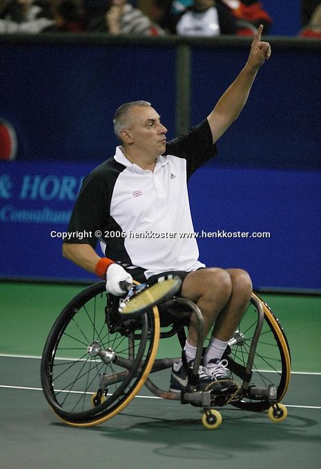 18-11-06,Amsterdam, Tennis, Wheelchair Masters, Peter Norfolk winner Quad Singles 2006