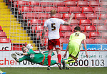 William Boyle of Huddersfield Town scores their first goal during the PDL U21 Final at Bramall Lane Sheffield. Photo credit should read: Simon Bellis/Sportimage