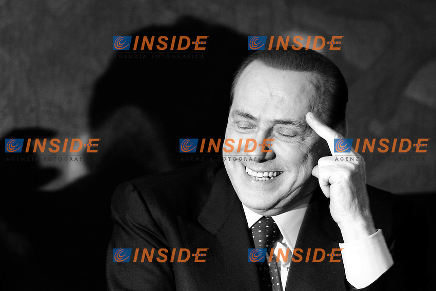 """Silvio Berlusconi.Roma 01/02/2012 Presentazione del libro """"Le mie mani pulite"""".Foto Insidefoto Serena Cremaschi"""