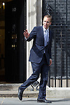 © Joel Goodman - 07973 332324 . 11/05/2015 . London , UK . MATTHEW HANCOCK leaves 10 Downing Street this afternoon (11th May 2015) . Photo credit : Joel Goodman