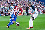 "Atletico de Madrid's player Kevin Gameiro and Deportivo de la Coruña's player Luis ""Luisinho"" Carlos Correia during a match of La Liga Santander at Vicente Calderon Stadium in Madrid. September 25, Spain. 2016. (ALTERPHOTOS/BorjaB.Hojas)"