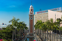 Railway clock tower In Tsim Sha Tsui, Hong Kong
