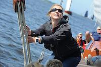 SKÛTSJESILEN: HEEG: 05-06-2016, Vrouwenskûtsje Oant Moarn, ©foto Martin de Jong