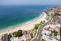 North Facing Aerial Stock Photo of Downtown Laguna Beach