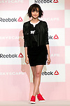 """A guest model and Reebok classic ambassador Tina Tamashiro attends the Reebok Skyscape Fashion Show on April 15, 2015, Tokyo, Japan. Miranda Kerr, who is very popular in Japan, is the Reebok global ambassador for the new footwear line """"Skyscape"""". Models Anne Nakamura, Tina Tamashiro and Funassyi, mascot of Funabashi city in Chiba, also attended the event. (Photo by Rodrigo Reyes Marin/AFLO)"""