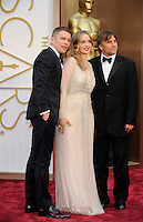 HOLLYWOOD, CA - MARCH 2: Ethan Hawke, Julie Delpy, Richard Linklater arriving to the 2014 Oscars at the Hollywood and Highland Center in Hollywood, California. March 2, 2014. Credit: SP1/Starlitepics. /NORTePHOTO