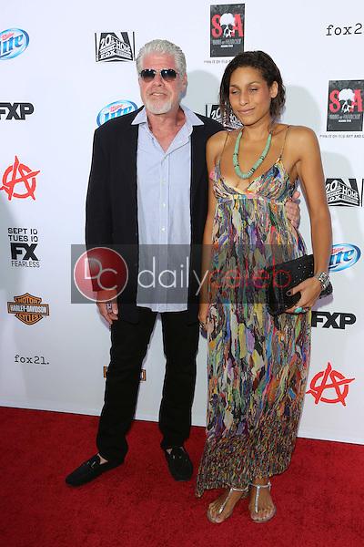 "Ron Perlman, Blake Perlman<br /> at the ""Sons of Anarchy"" Season Six Premiere Screening, Dolby Theatre, Hollywood, CA 09-07-13<br /> David Edwards/Dailyceleb.com 818-249-4998"