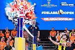 06.01.2019, Den Haag, Sportcampus Zuiderpark<br />Beachvolleyball, FIVB World Tour, 2019 DELA Beach Open, Halbfinale<br /><br />Angriff Clemens Wickler (#2)<br /><br />  Foto &copy; nordphoto / Kurth