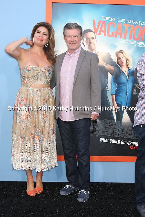 """LOS ANGELES - JUL 27:  Tanya Callau, Alan Thicke at the """"Vacation"""" Premiere at the Village Theater on July 27, 2015 in Westwood, CA"""