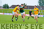 Jack Sherwood, Kerry in action against Séamus Lavin, Meath during the Football All-Ireland Senior Championship Quarter-Final Group 2 Phase 3 match between Kerry and Meath at Páirc Tailteann, Navan on Saturday.