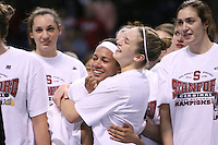31 March 2008: Rosalyn Gold-Onwude and JJ Hones during Stanford's 98-87 win over the University of Maryland in the elite eight game of the NCAA Division 1 Women's Basketball Championship in Spokane, WA.