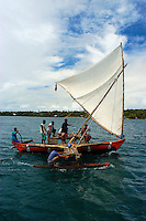 "Traditional Yapese Boat near the  small Island of Yap know for its Stone Money located in the South Pacific and is part of Micronesia. Time has stood still in this part of the world and the Yapese treasure even today their culture and tradition. Women walking around topless without a shame and go about their daily life. But Yap is also famous for its ""resident"" large Manta Rays and many other amazing ddive sites. Yap, Micronesia"