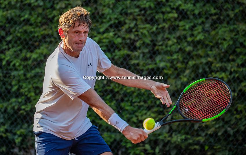Hilversum, The Netherlands,  August 23, 2019,  Tulip Tennis Center, NSK, JOHN PETERS  HANS VAN DER BRANDE<br /> Photo: Tennisimages/Henk Koster