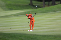Rickie Fowler (USA) plays into the 16th green during Sunday's Final Round of the WGC Bridgestone Invitational 2017 held at Firestone Country Club, Akron, USA. 6th August 2017.<br /> Picture: Eoin Clarke | Golffile<br /> <br /> <br /> All photos usage must carry mandatory copyright credit (&copy; Golffile | Eoin Clarke)